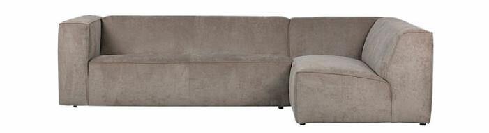 beige stor soffa