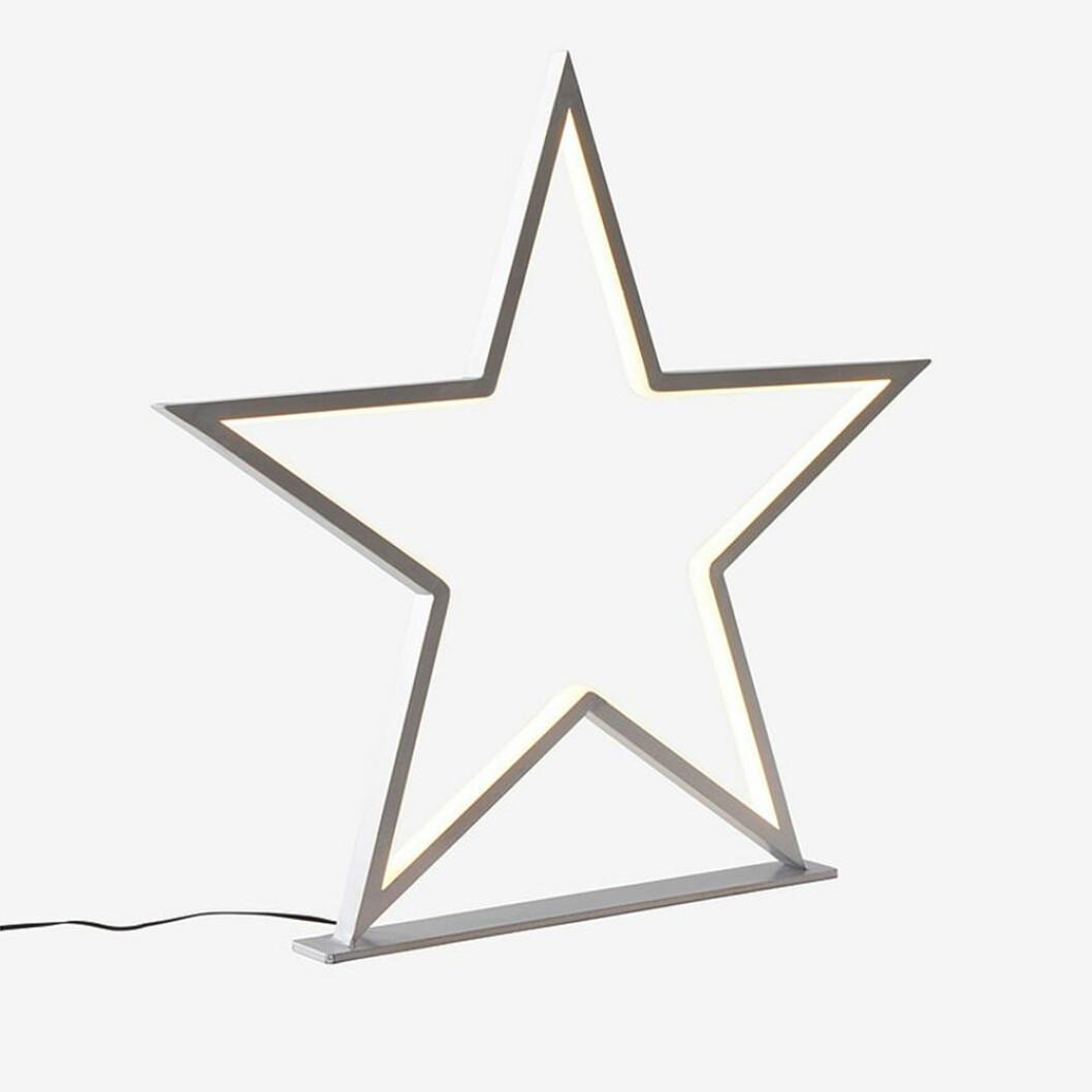 Stjärna med LED-belysning till jul