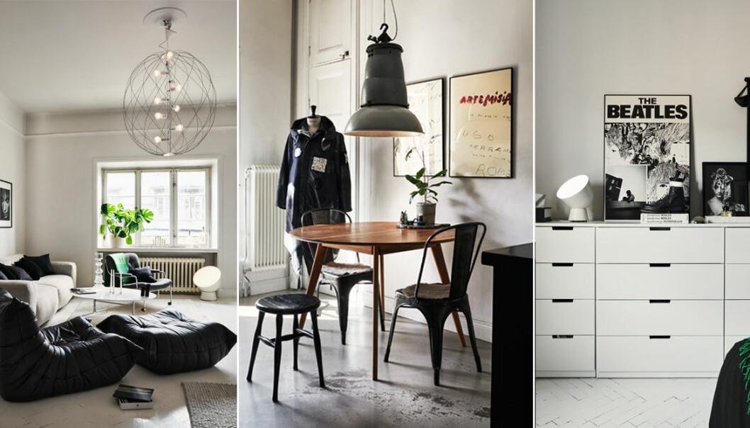 Modedesignern Lee Cotters hem i Stockholm