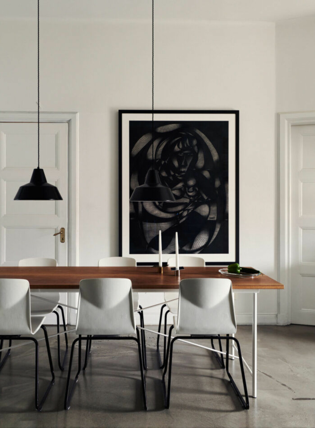 Matplats hos modedesignern Lee Cotter i lägenheten i Stockholm
