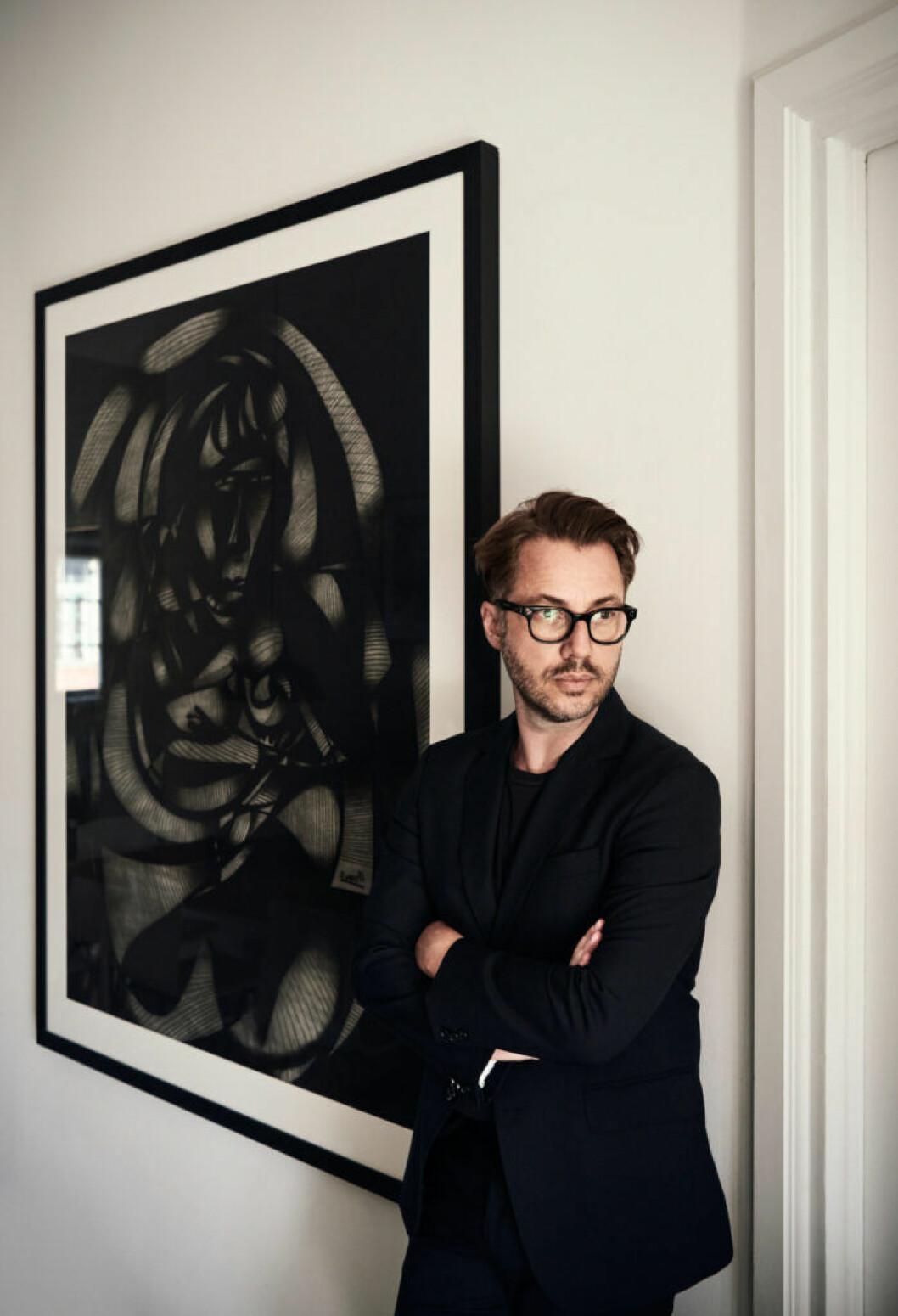 Lee Cotter i lägenheten i Stockholm