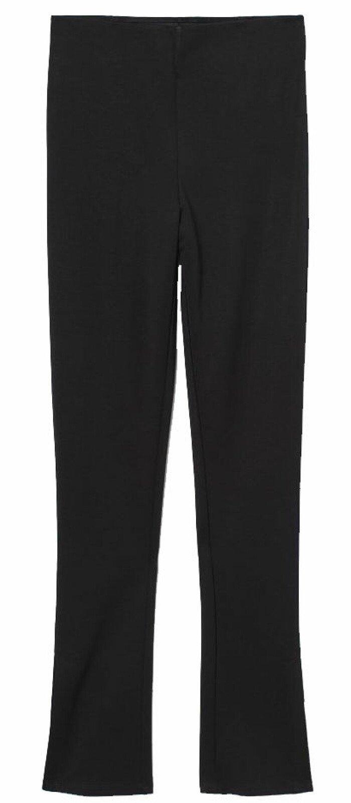 Leggings från H&M i svart med slits