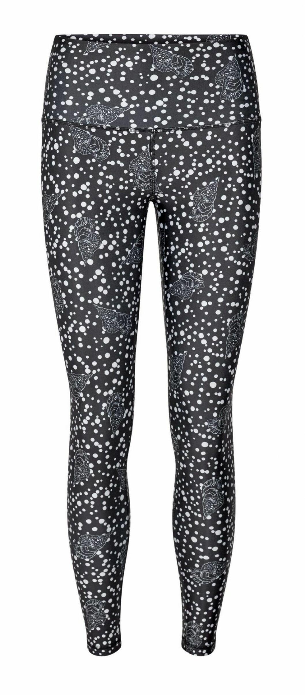 Högmidjade leggings med snäckmönster från danska märket H2o Fagerholt