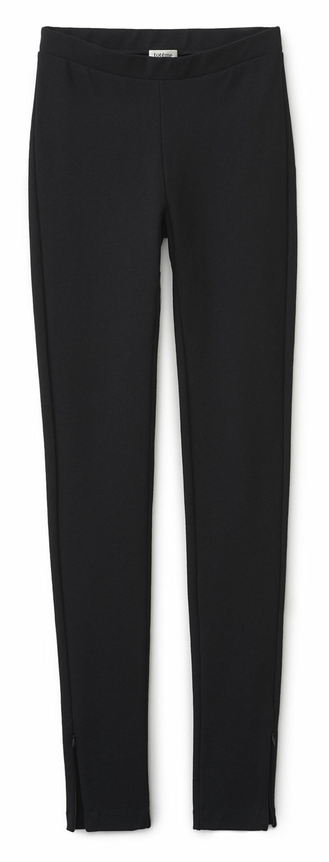 Mjuka leggings från Totême med hög midja och diskreta dragkedjor vid anklarna
