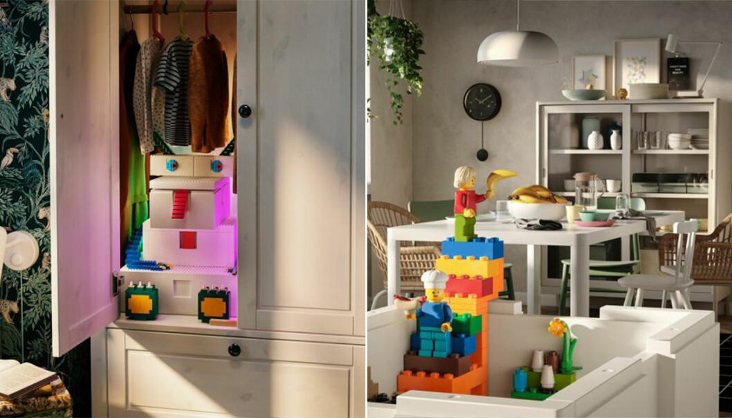 Ikea i samarbete med Lego i ny kollektion Bygglek