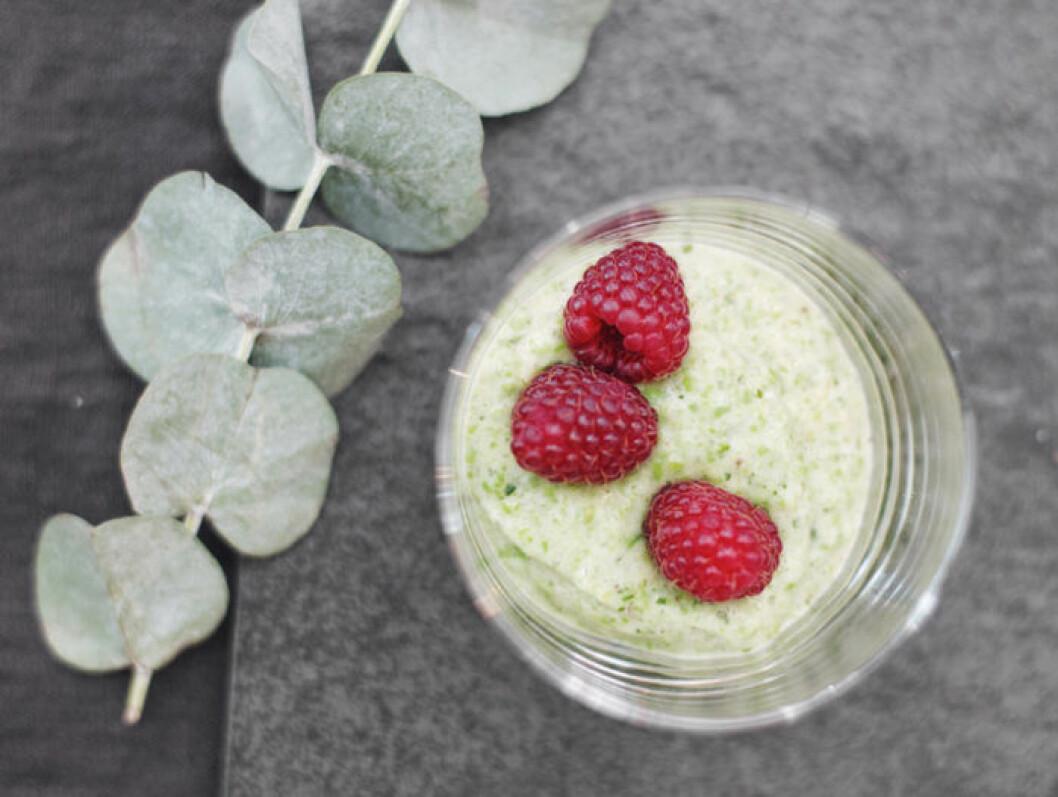 Leilas gröna hälsoglass med ärtor och banan.