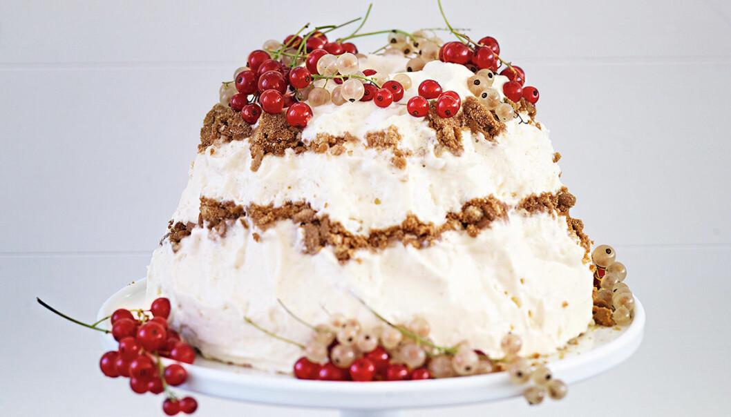 Leilas frozen cheesecake med pepparkaka.