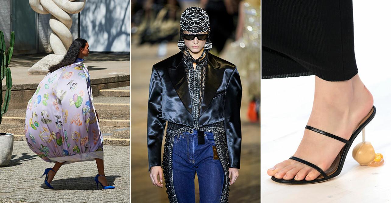 Lekfulla looks från modeveckorna inför våren 2022