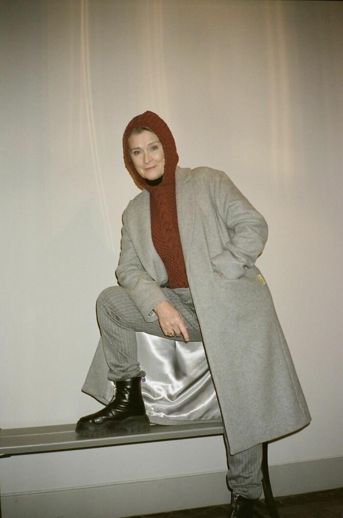 Skådespelaren Lena Endre i plagg från Diemonde.