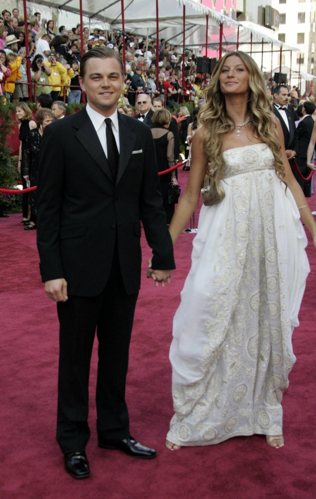 Leonardo DiCaprio och Gisele Bündchen på Oscarsgalan 2005