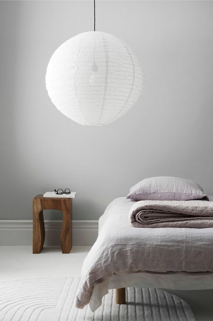 lila sängkläder linne