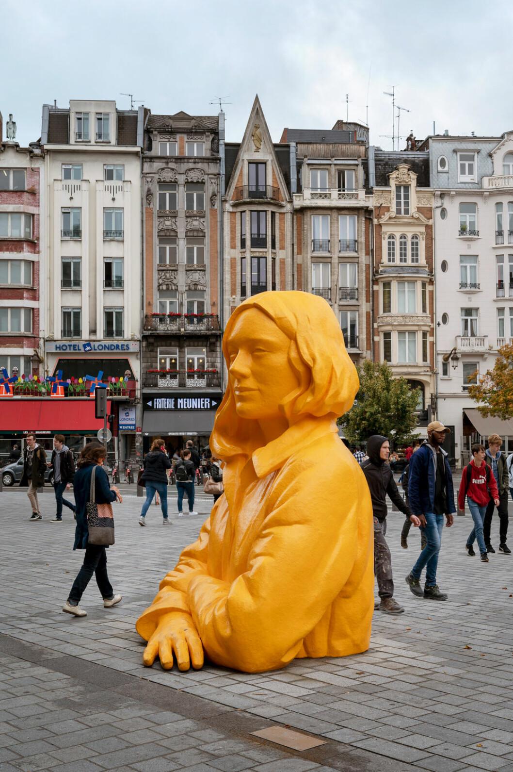 Statyn Romy Designhuvudstaden Lille