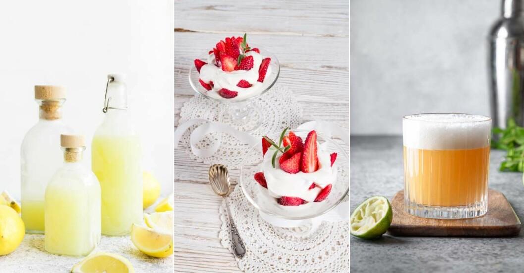 Drinkar och dessertmed Limoncello