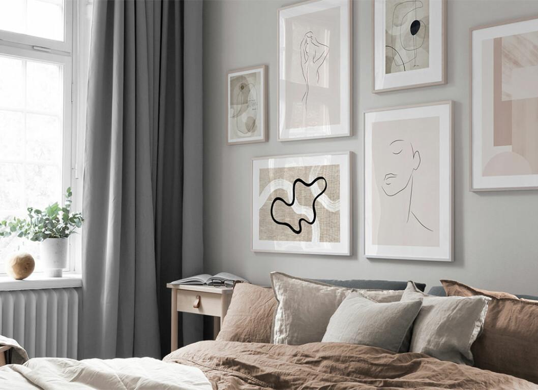 Abstrakt konst och linjer är en trend bland tavlorna på Hemnet