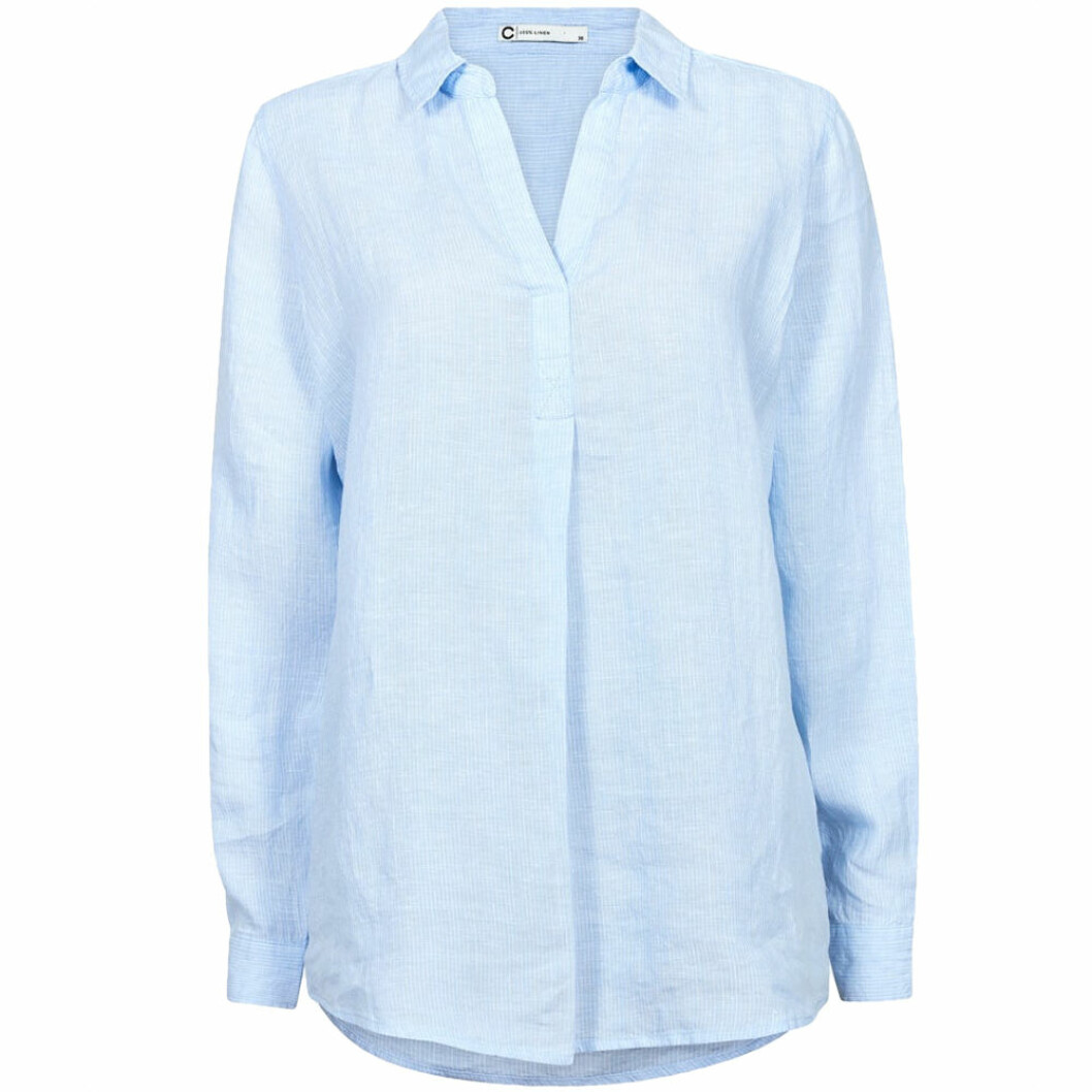 Ljusblå linneskjorta från Cubus