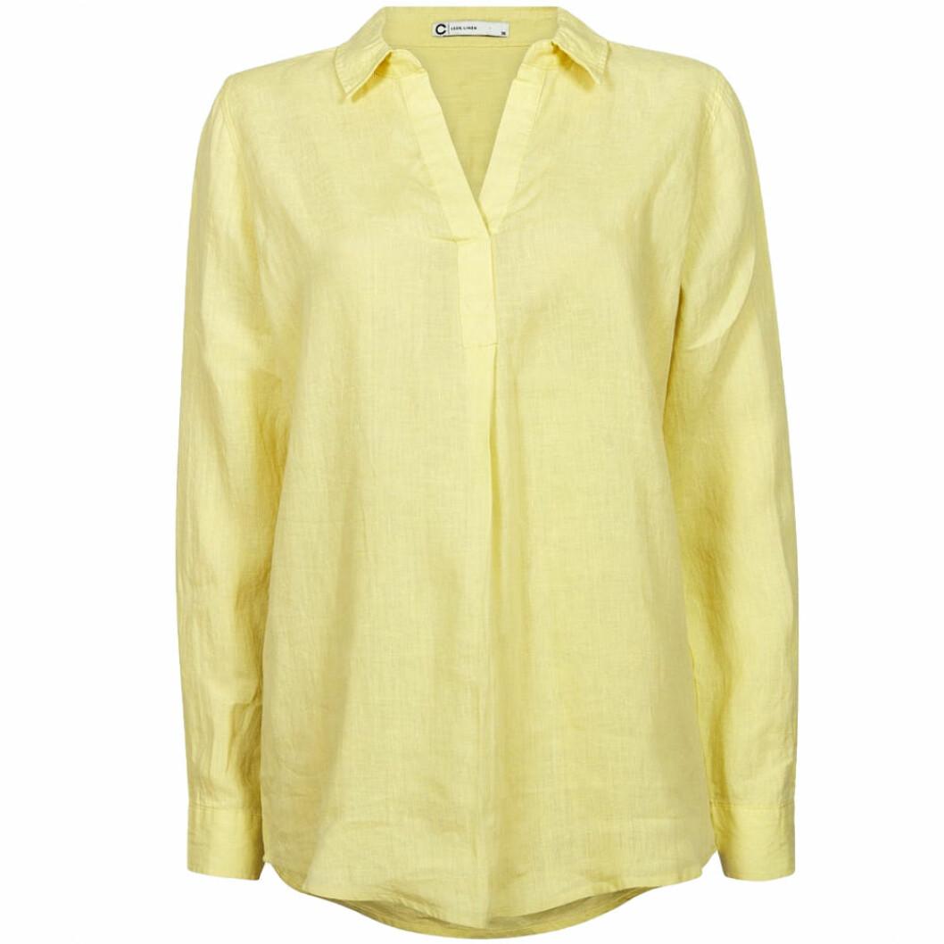 Ljusgul linneskjorta från Cubus