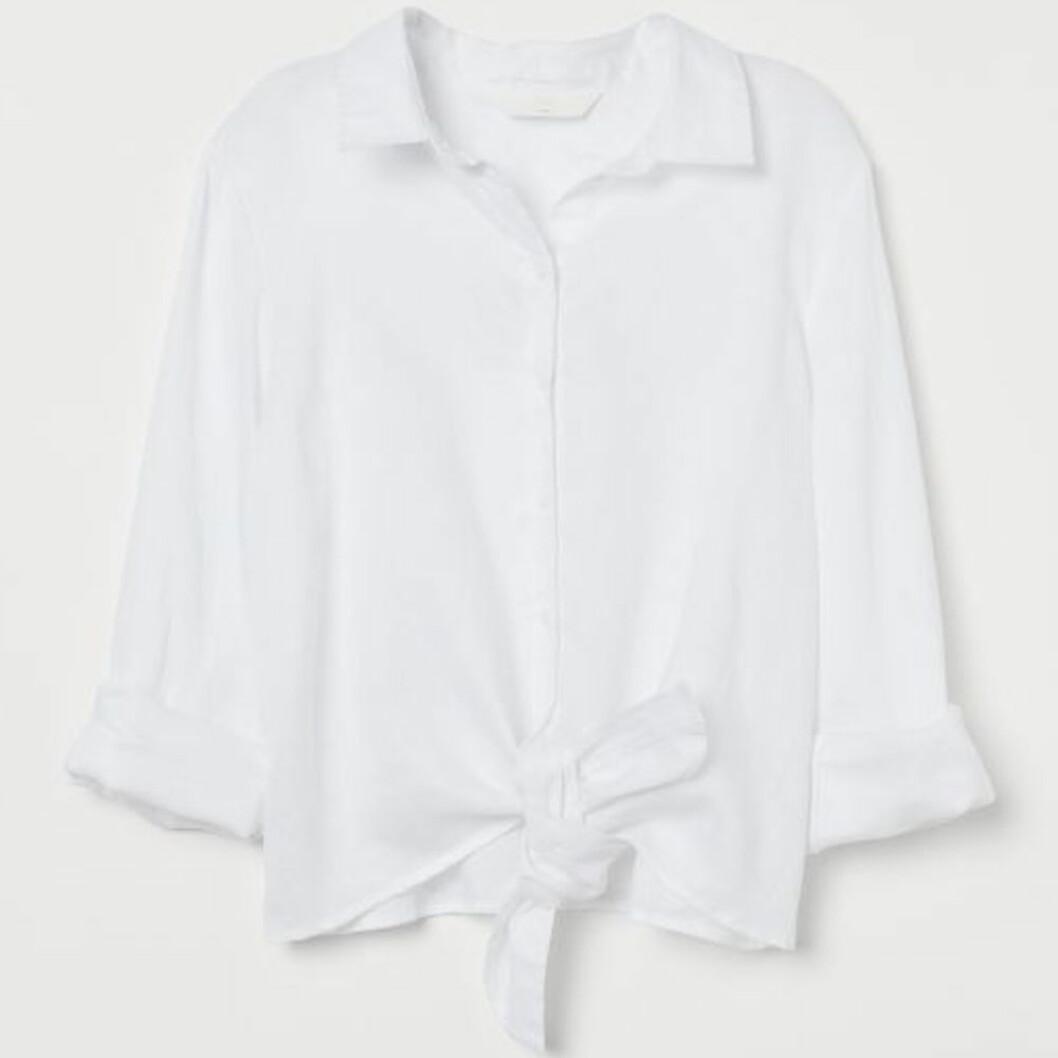 Knyt linneskjorta från h&M