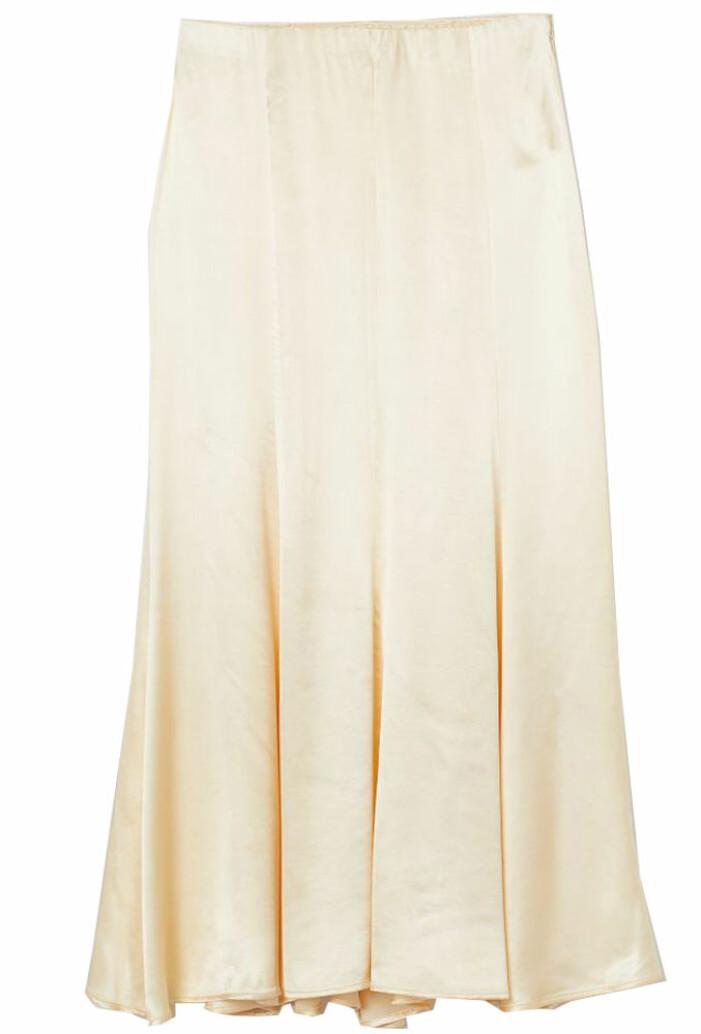 ljusgul lång kjol