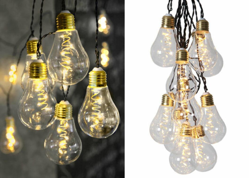 Ljusslinga med glödlampor för inomhusbruk