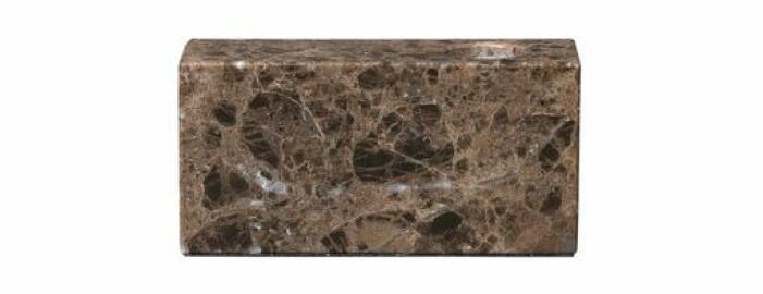 ljusstake marmor brun