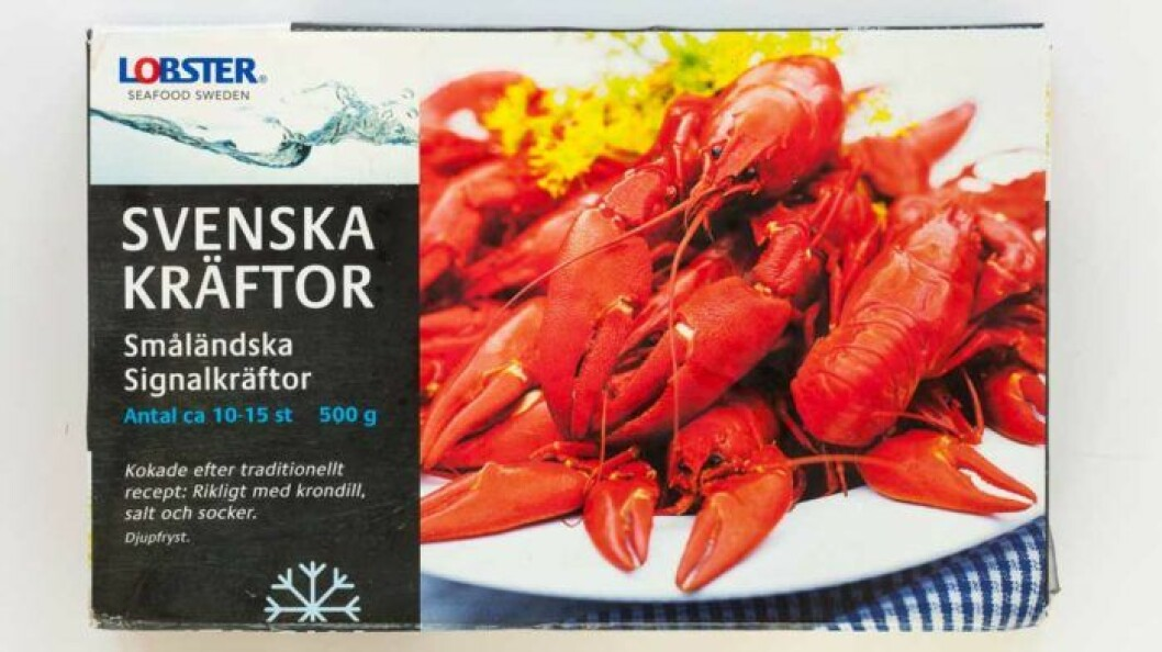 Lobster frysta signalkräftor – Sverige