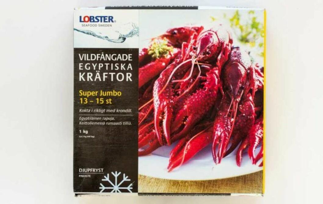 Lobster vildfångade frysta super jumbokräftor – Egyptien