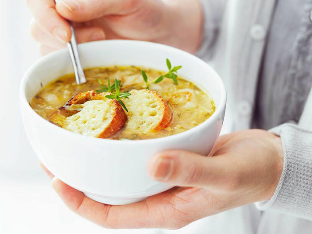 Fransk löksoppa.