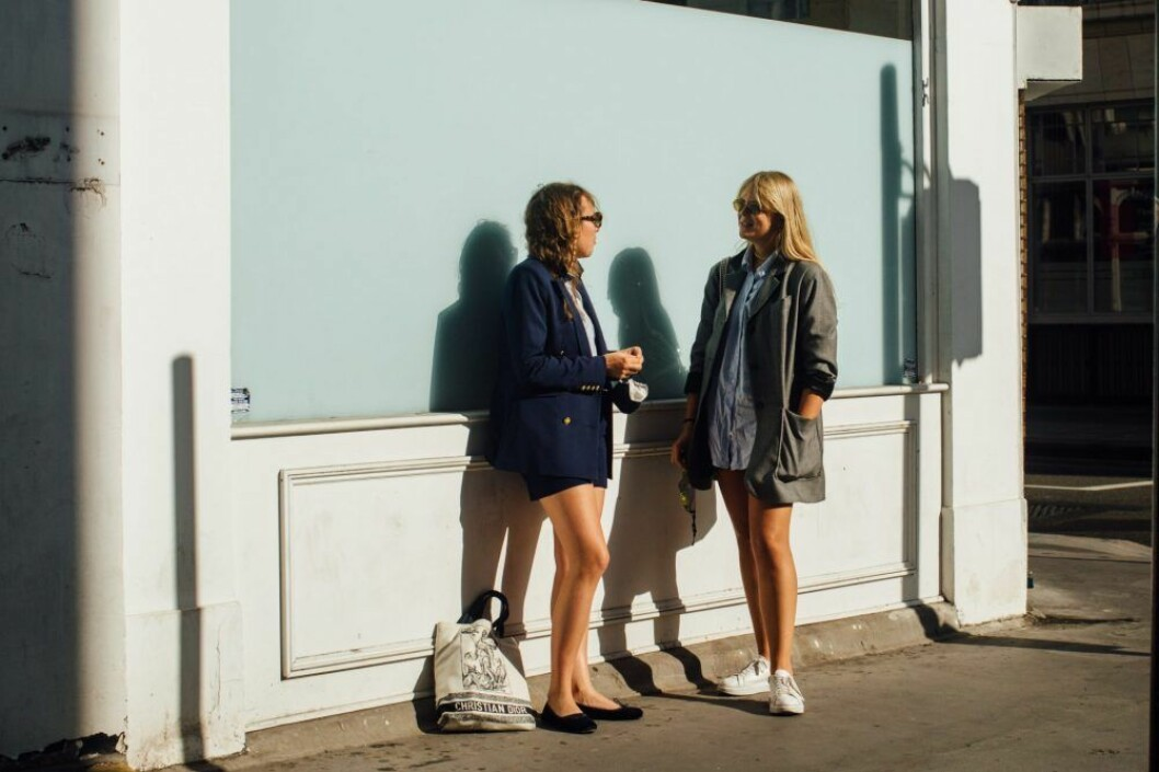 kavajer i oversized modell london fashion week.