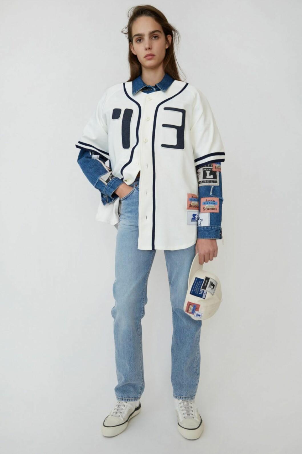 Jersery-tröja och jeans från Acne Studios x Starter.