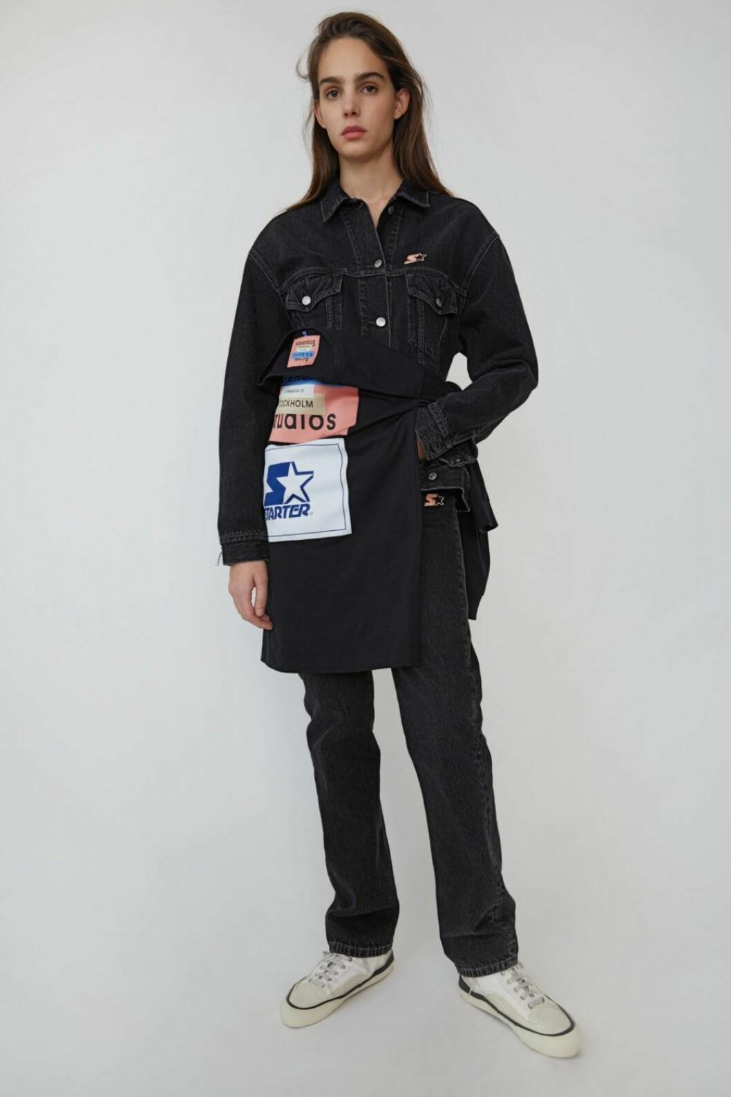 Jeansjacka i mörk tvätt från Acne Studios x Starter.