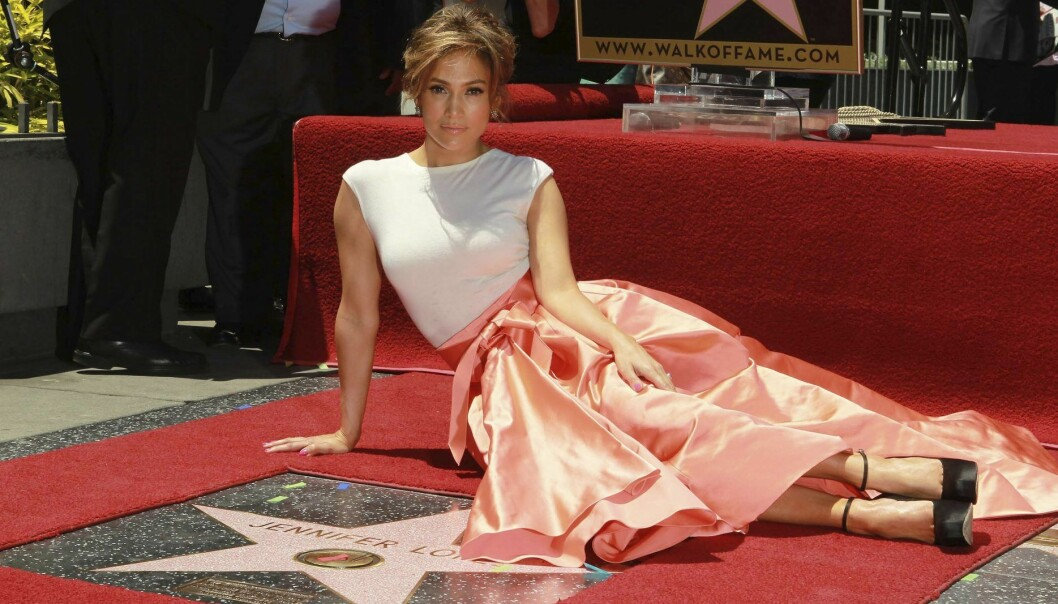 Jennifer lopez vid sin hollywoodstjärna