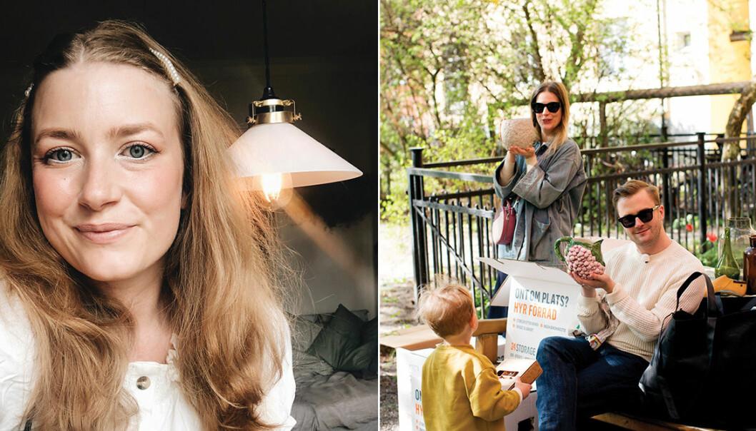 Elsa Billgren, Sofia Wood och Gustav Broström älskar loppisar och vintagefynd.