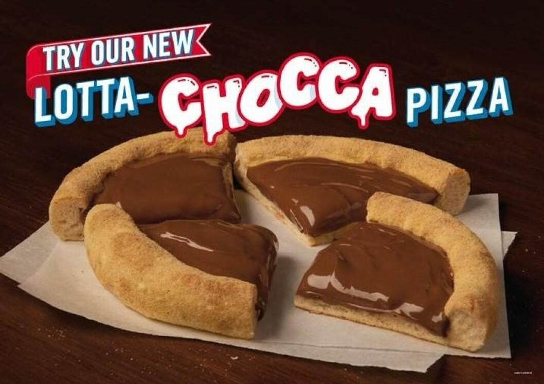 """""""Lotta Chocca Pizza"""" från Domino's."""