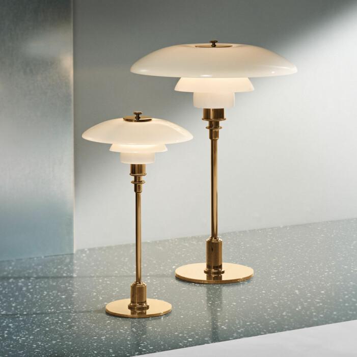 Bordslampa PH 3/2 från Louis Poulsen är en stilsäker designklassiker