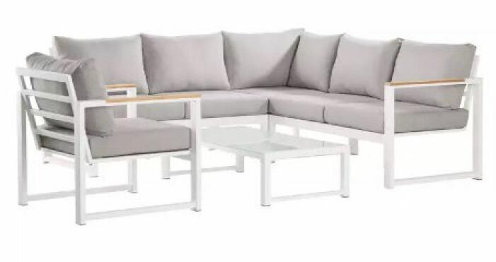 vita loungemöbler uteplats