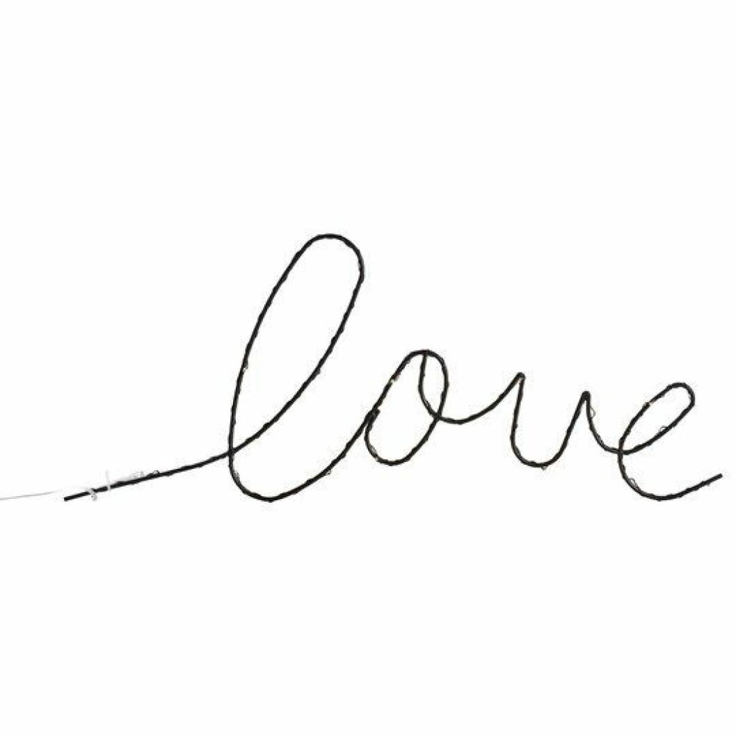 Text skrivstil love-lampa