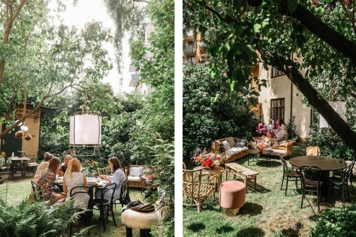 lummig innergård på Östermalm – hemma hos Petra Tungården