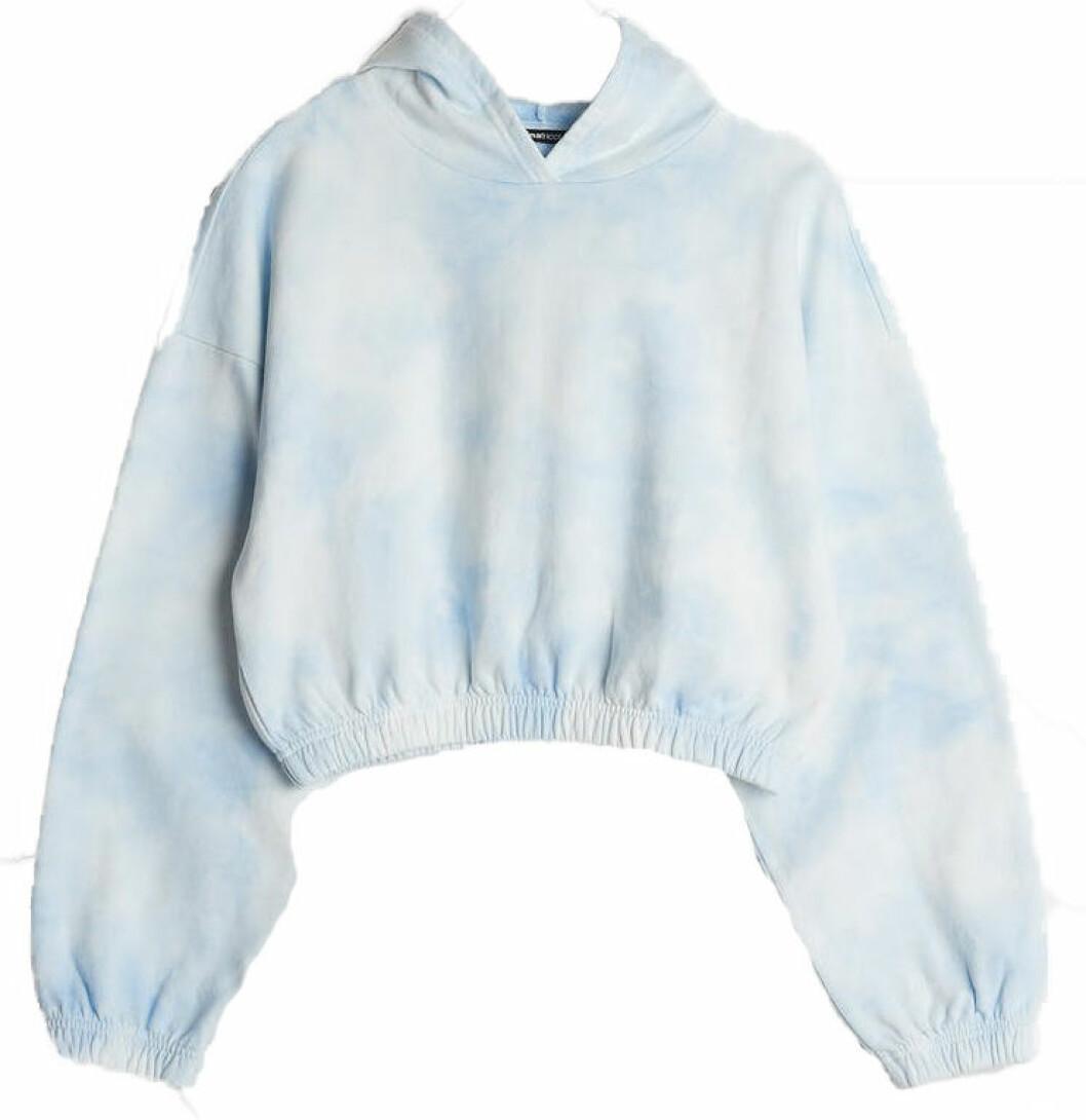 blå tröja med tiedye mönster från gina tricot.
