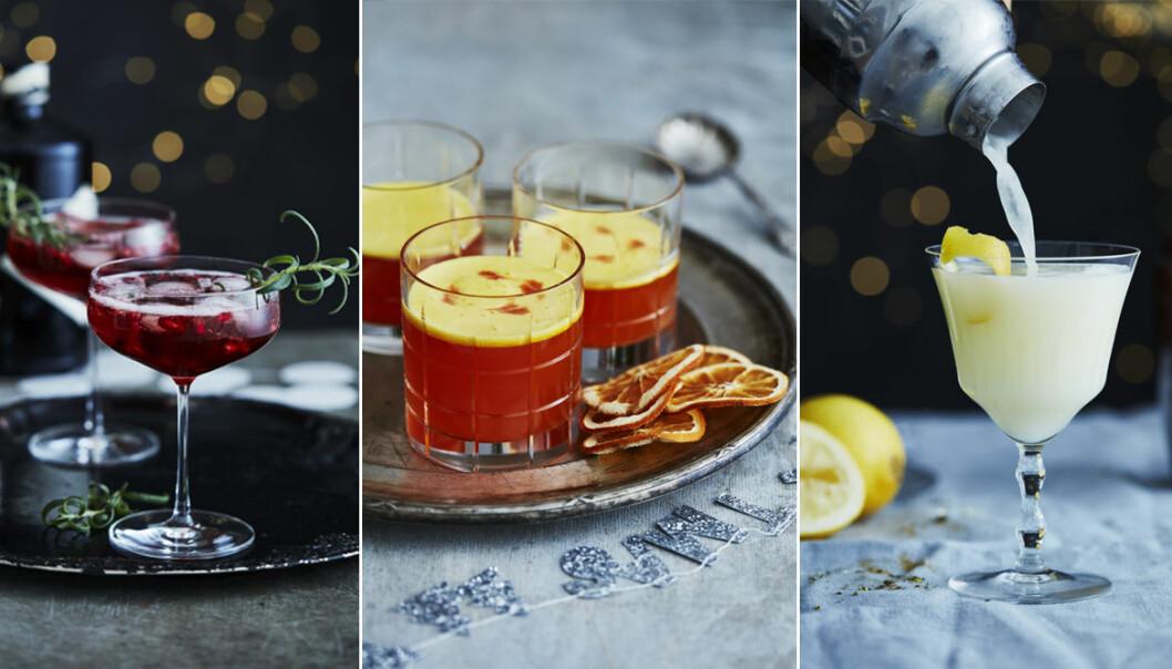 Recept på lyxiga drinkar med och utan alkohol