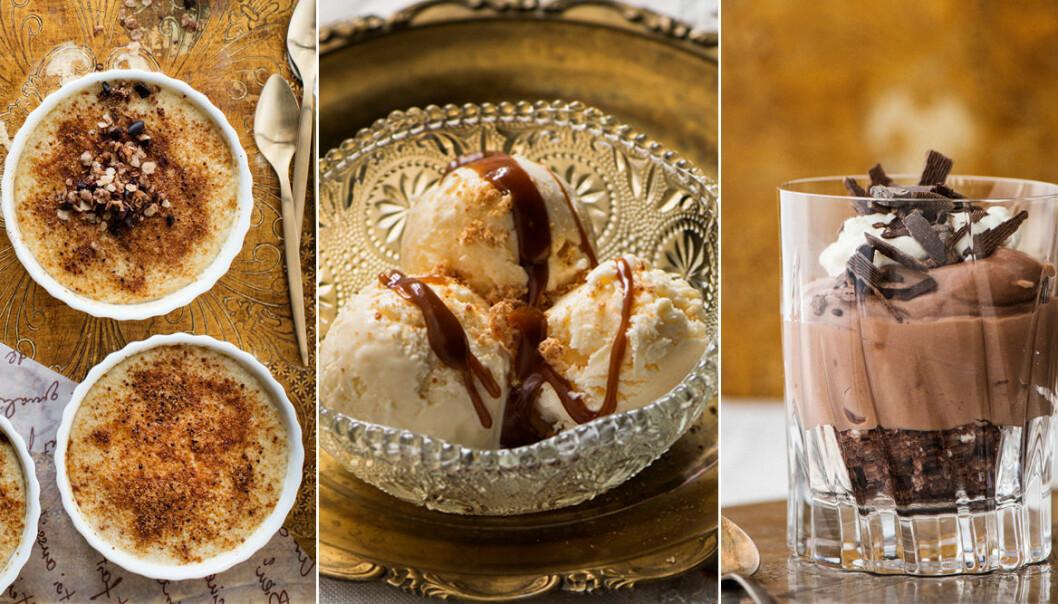 Recept på lyxiga efterrätter, chokladmousse, mascarpone