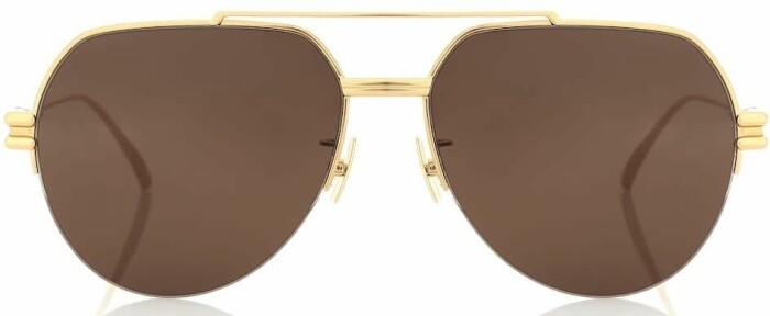 lyxiga pilotsolglasögon från bottega veneta