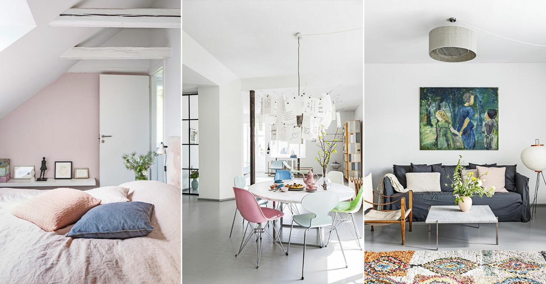 Hemma hos Mai Knauer pasteller och dansk design
