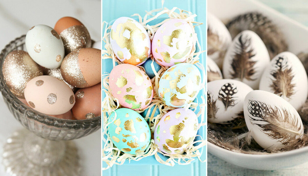 Inspireras av dessa vackra påskägg!