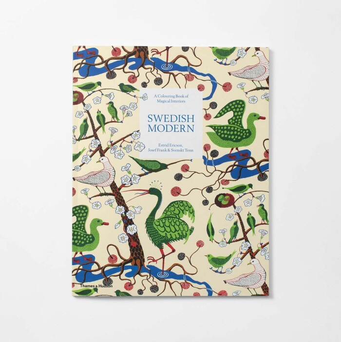 målarbok för vuxna från svenskt tenn