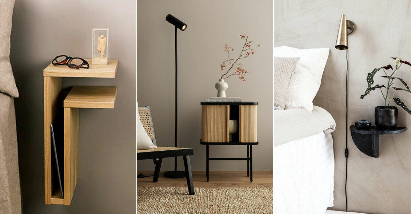 Snygga sängbord i butik och online