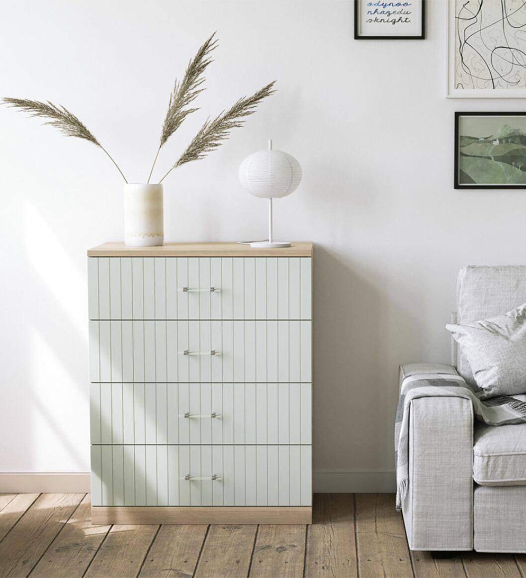Ikeas Malm-byrå med nya luckor från Norse Interiors