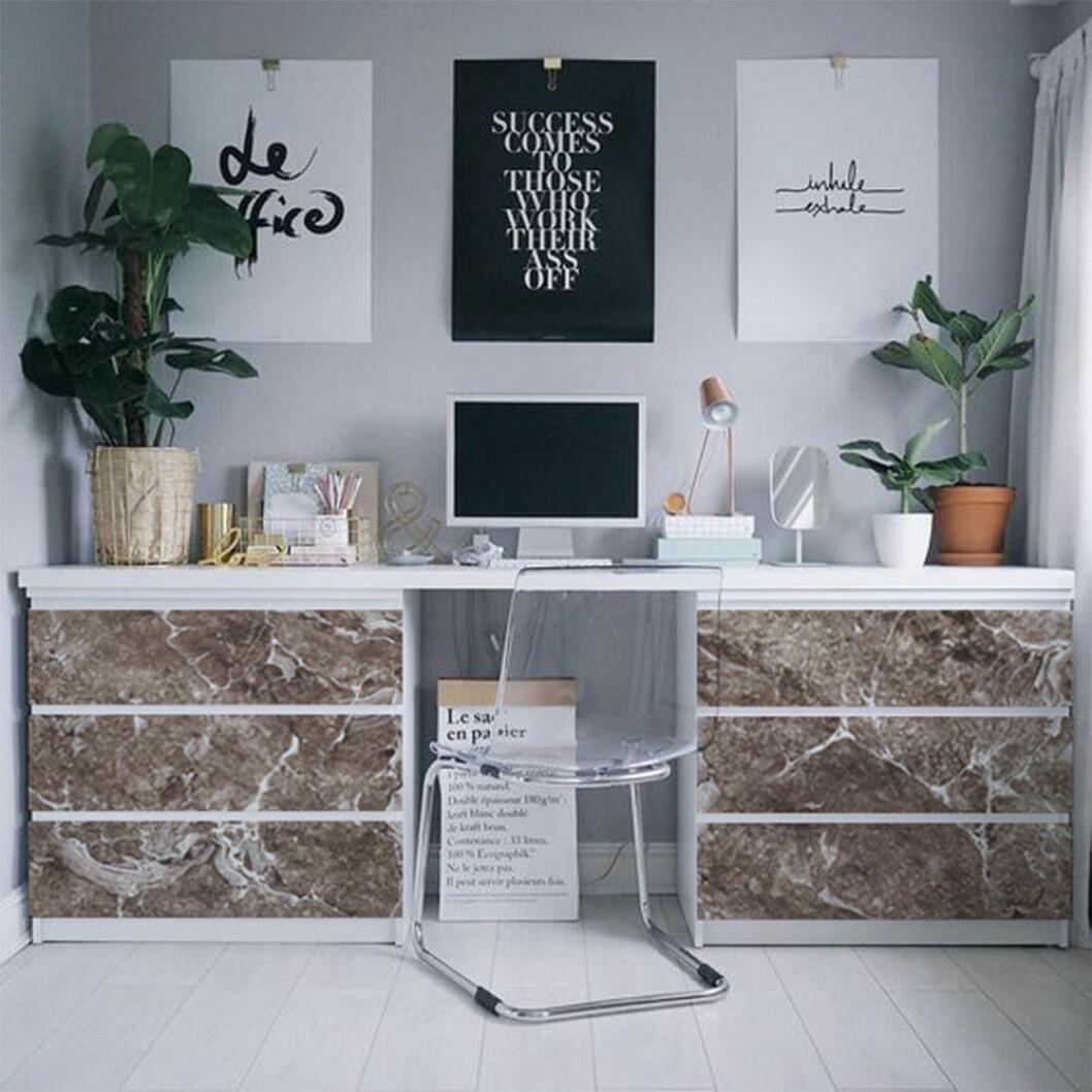 Malm Ikea-hack skrivbord