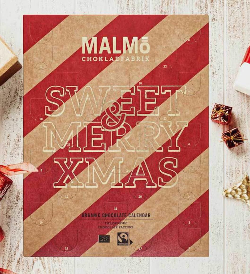 Adventskalender från Malmö Chokladfabrik.