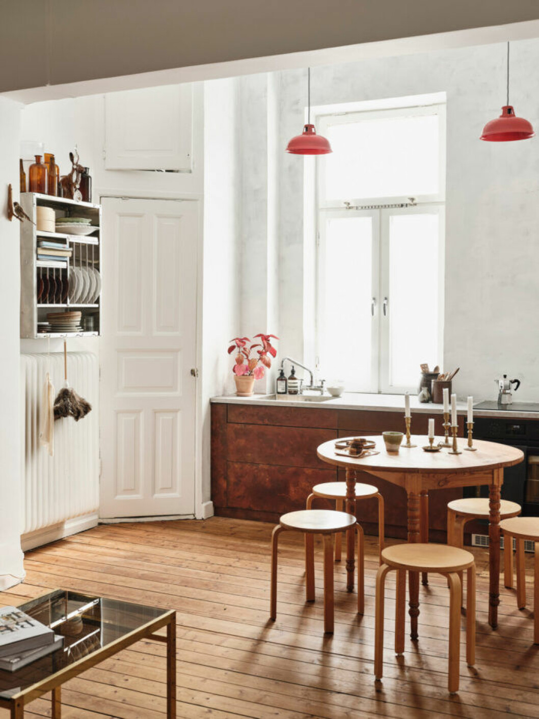 Sekelskifteslägenhet i Malmö, kök i trä