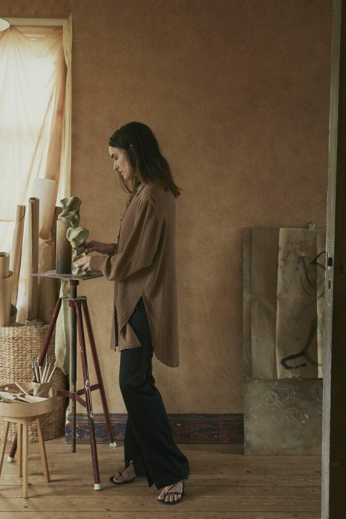 Malou Palmqvist hemma hos kavalett atelje